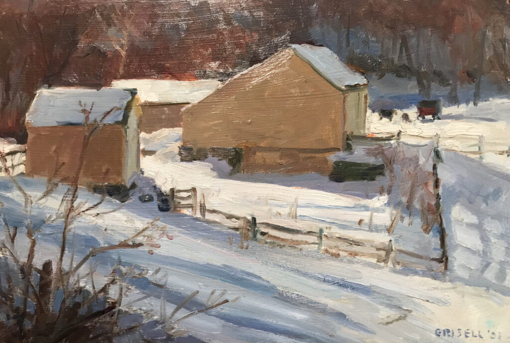 McGoldrick's in Winter, Oil on Panel, 12 x 18 Inches, by Susan Grisell, $325