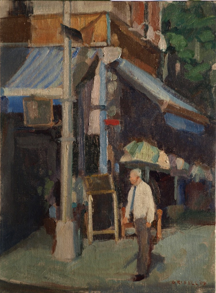 Morning - MacDougal Street, Oil on Canvas, 16 x 12 Inches, by Susan Grisell, $300