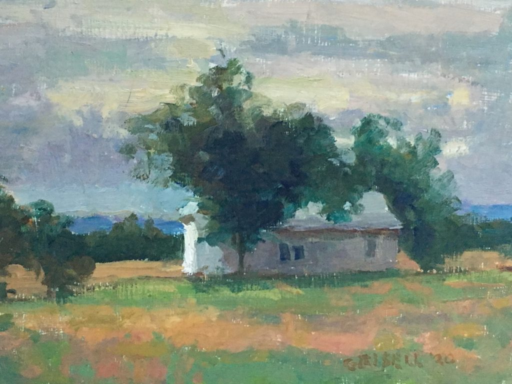 Morning in Gettysburg, Oil on Panel, 8 x 12 Inches, by Susan Grisell, $200