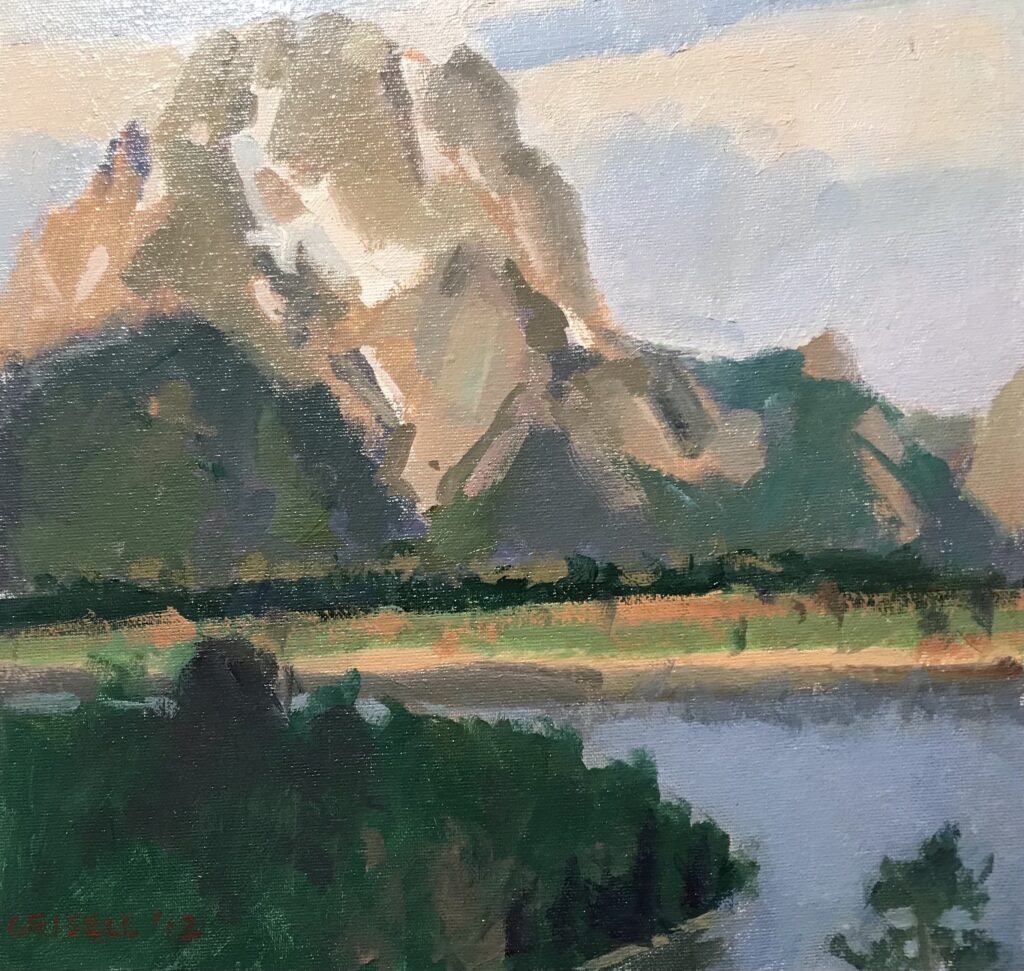 Mt. Moran Study, Oil on Canvas on Panel, 12 x12 Inches by Susan Grisell $275