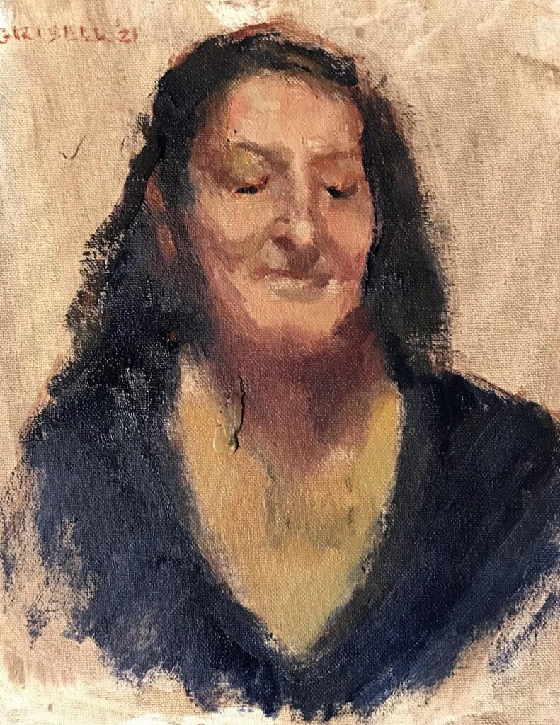 My Friend Martine, Oil on Canvas on Panel, 10 x 8 Inches, by Susan Grisell, $200