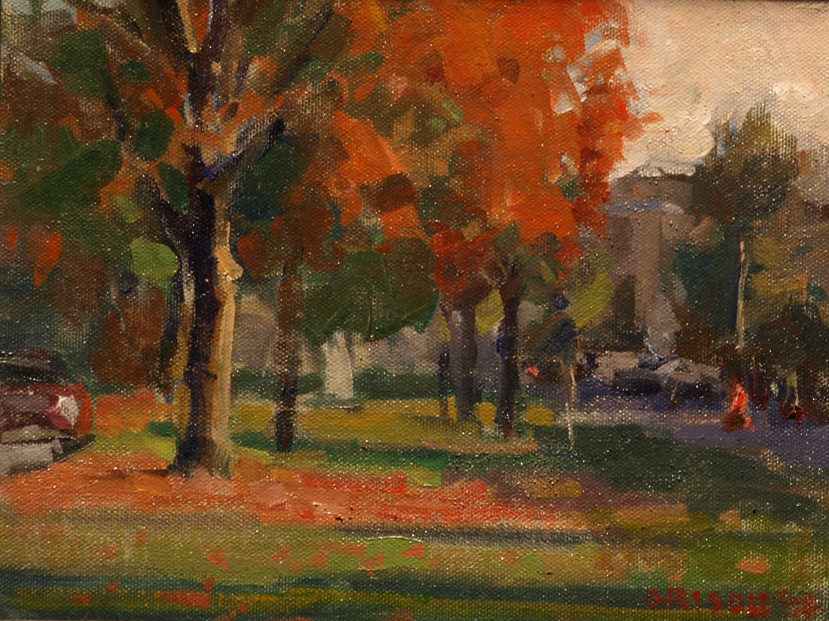 New Milford Green, Oil on Canvas on Panel, 8 x 10 Inches, by Susan Grisell, $150