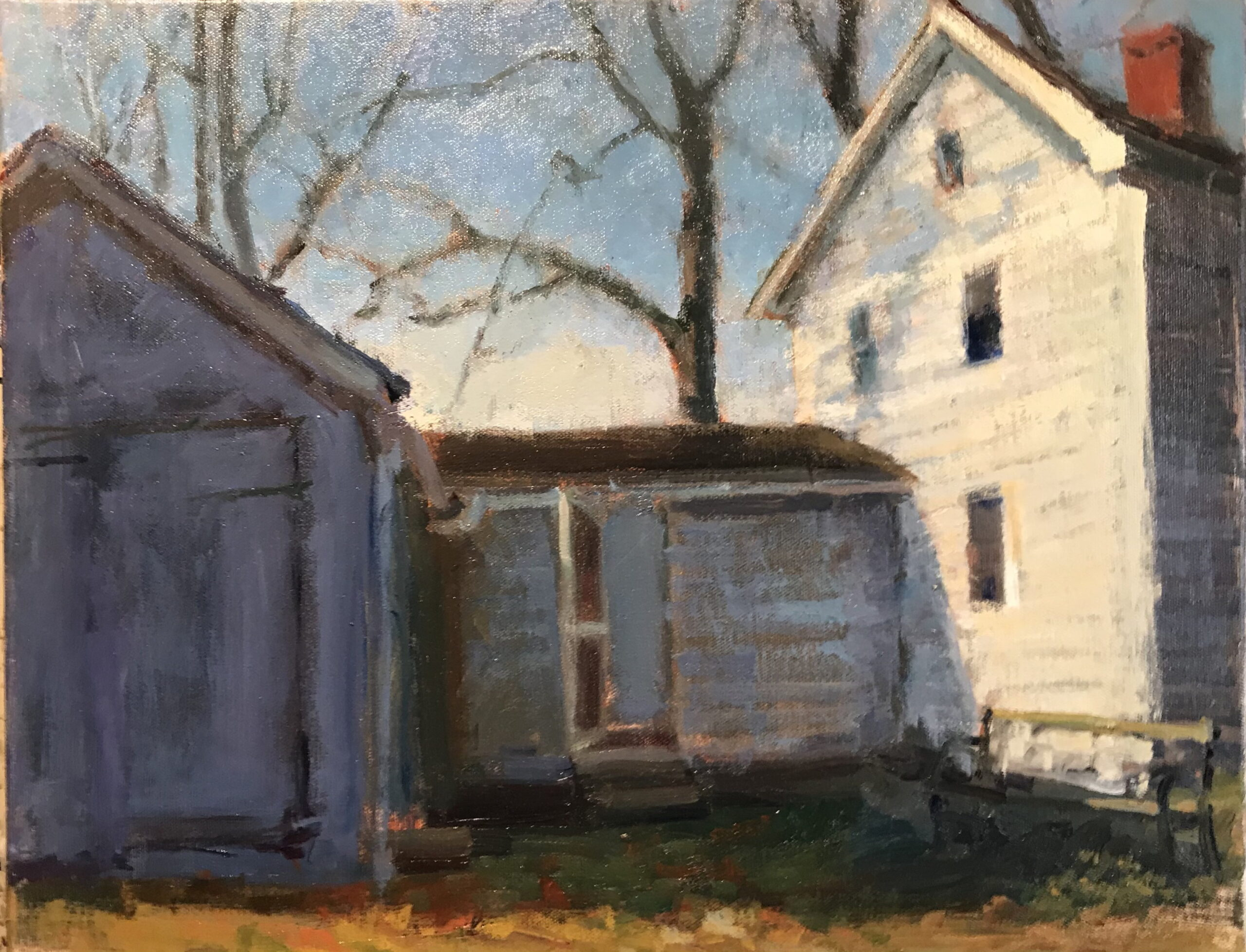 November, Oil on Canvas, 16 x 20 Inches, by Susan Grisell, $550