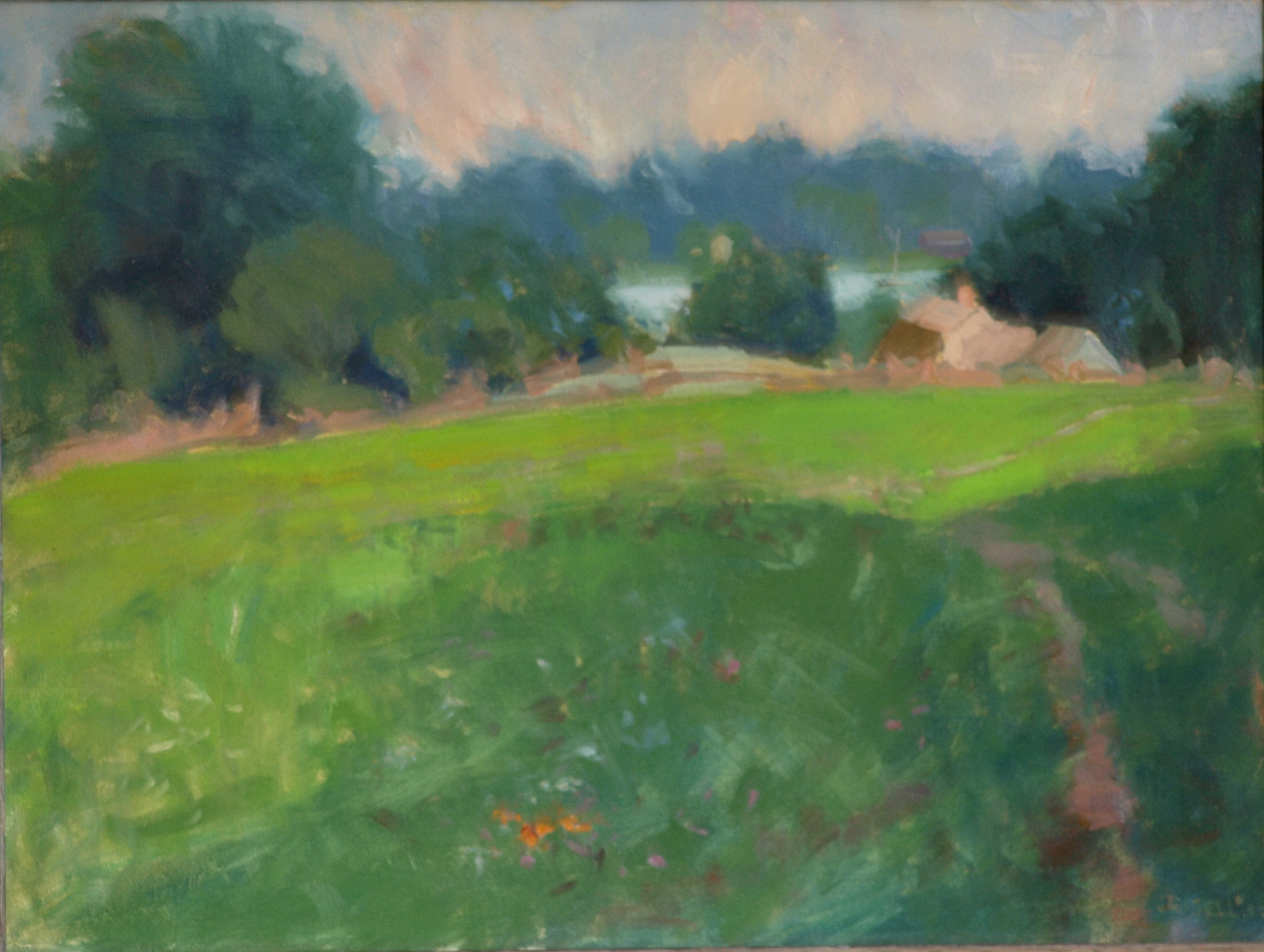 Old Farm - Mystic, Oil on Canvas, 18 x 24 Inches, by Susan Grisell, $650
