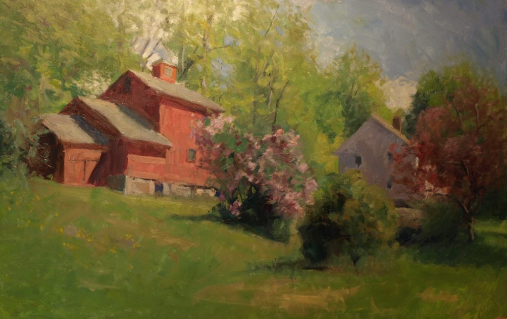 My Birthplace, Oil on Canvas, 24 x 36 Inches, by Susan Grisell, $1500