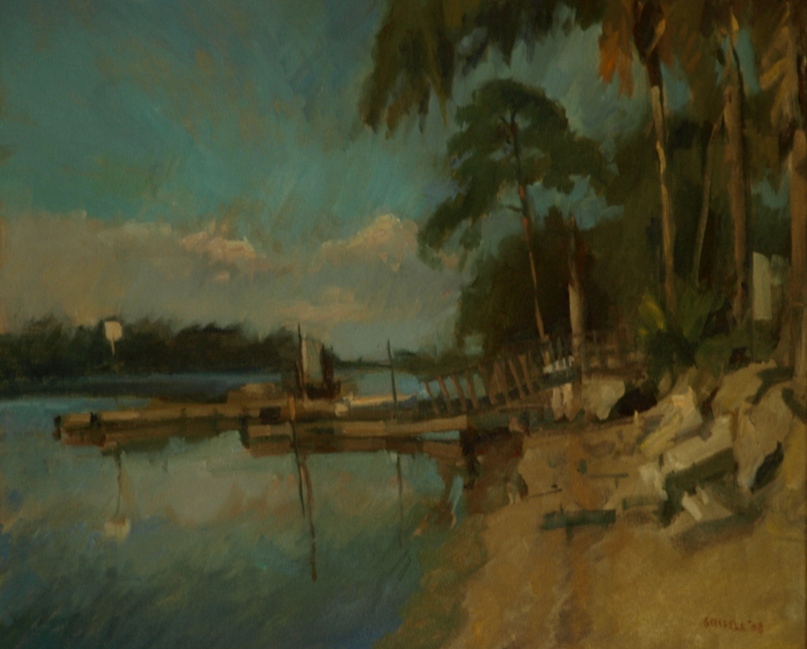 Palm Coast - Florida, Oil on Canvas, 20 x 24 Inches, by Susan Grisell, $650