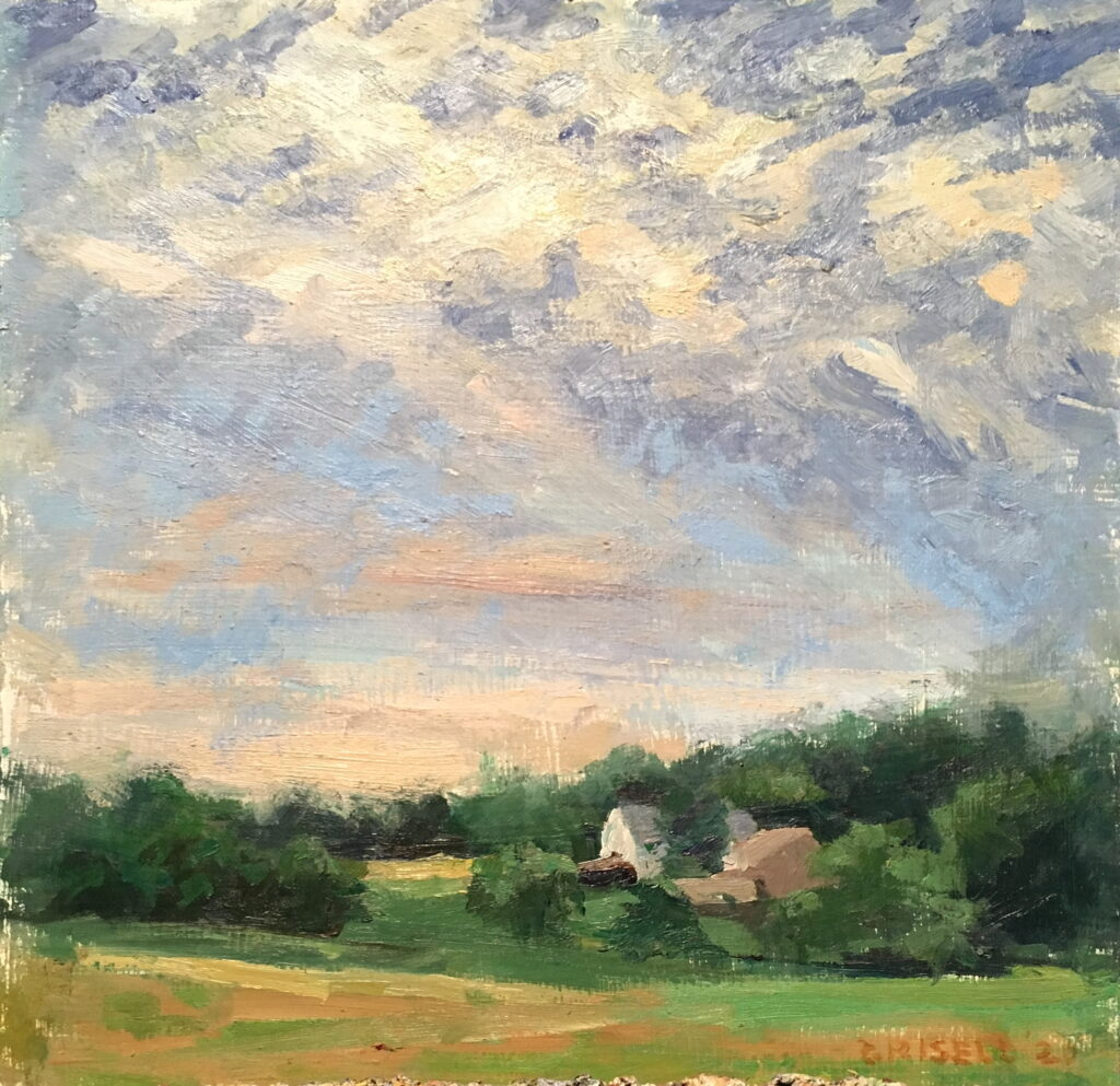 Pennsylvania Landscape, Oil on Canvas on Panel, 12 x 12 Inches, by Susan Grisell, $325
