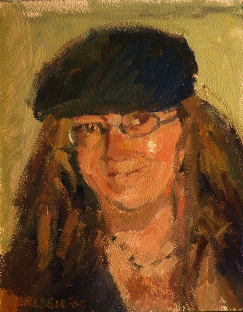 Penny, Oil on Panel, 8 x 10 Inches, by Susan Grisell, $150