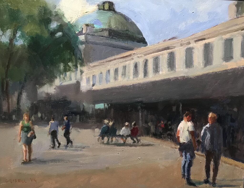 """""""Quincy Market"""", Oil on Canvas, 16 x 20 Inches by Susan Grisell $550"""