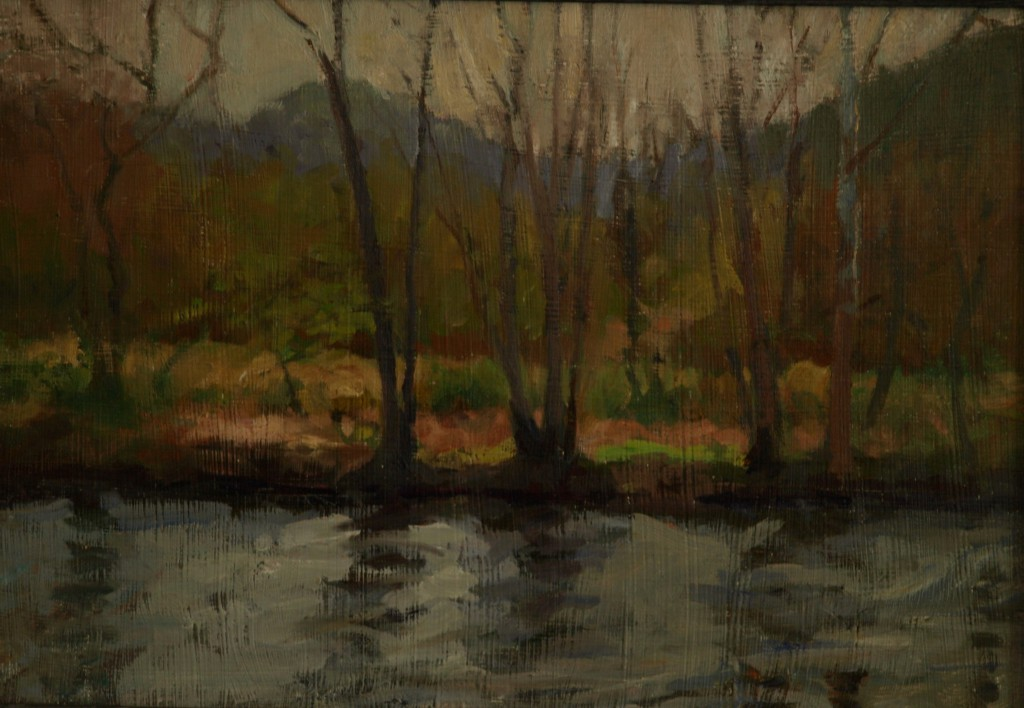 River in Spring, Oil on Panel, 12 x 18 Inches, by Susan Grisell, $275