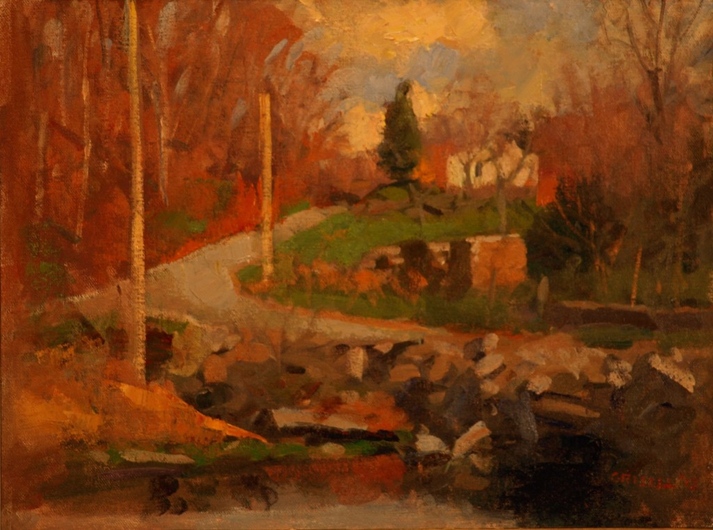 April in Tiverton, Oil on Canvas on Panel, 12 x 16 Inches, by Susan Grisell, $275