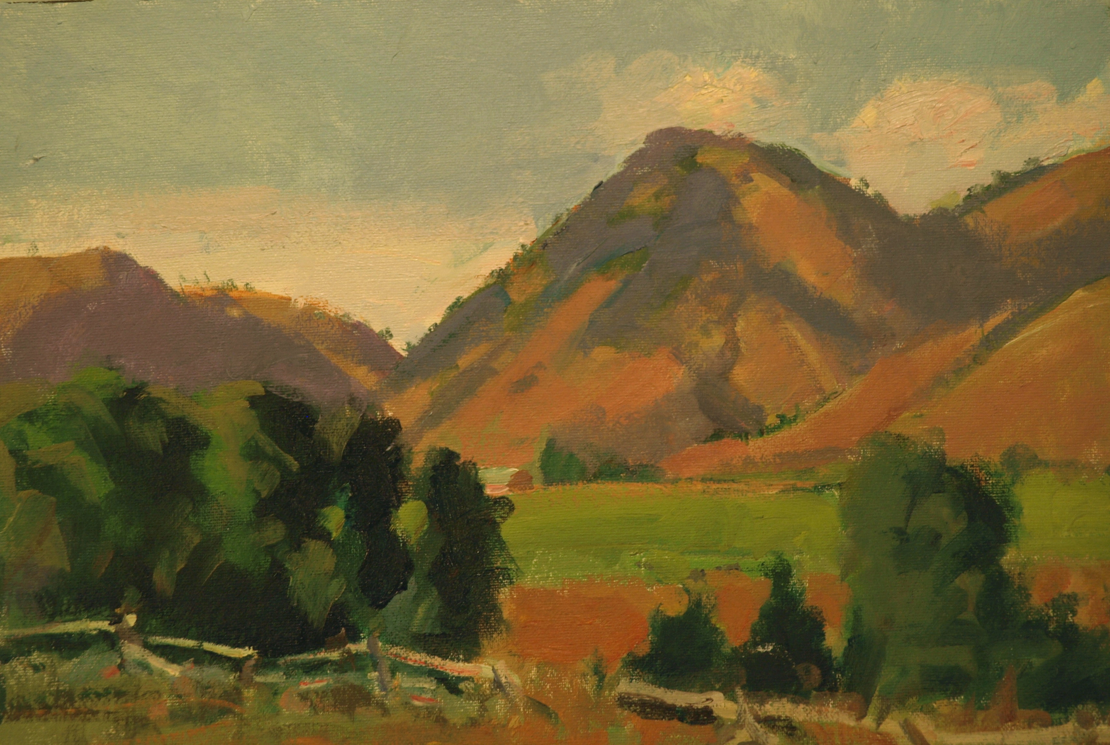 At Ranch Alegre, Oil on Canvas on Panel, 12 x 16 Inches, by Susan Grisell, $275