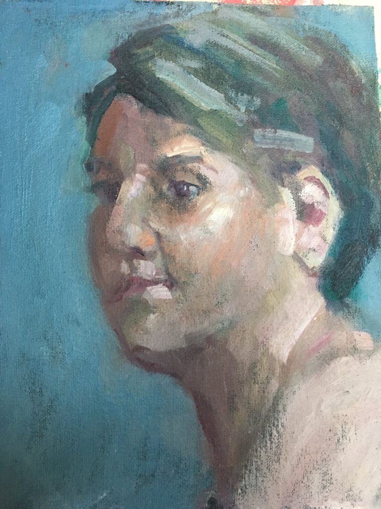 Beth, Oil on Canvas on Panel, 10 x 8 Inches, by Susan Grisell, $200