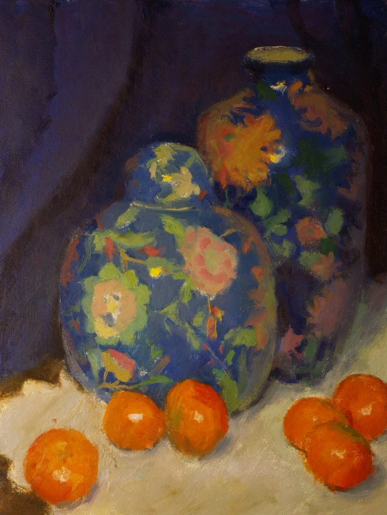 Chinese Jars, Oil on Canvas, 20 x 16 Inches, by Susan Grisell, $750