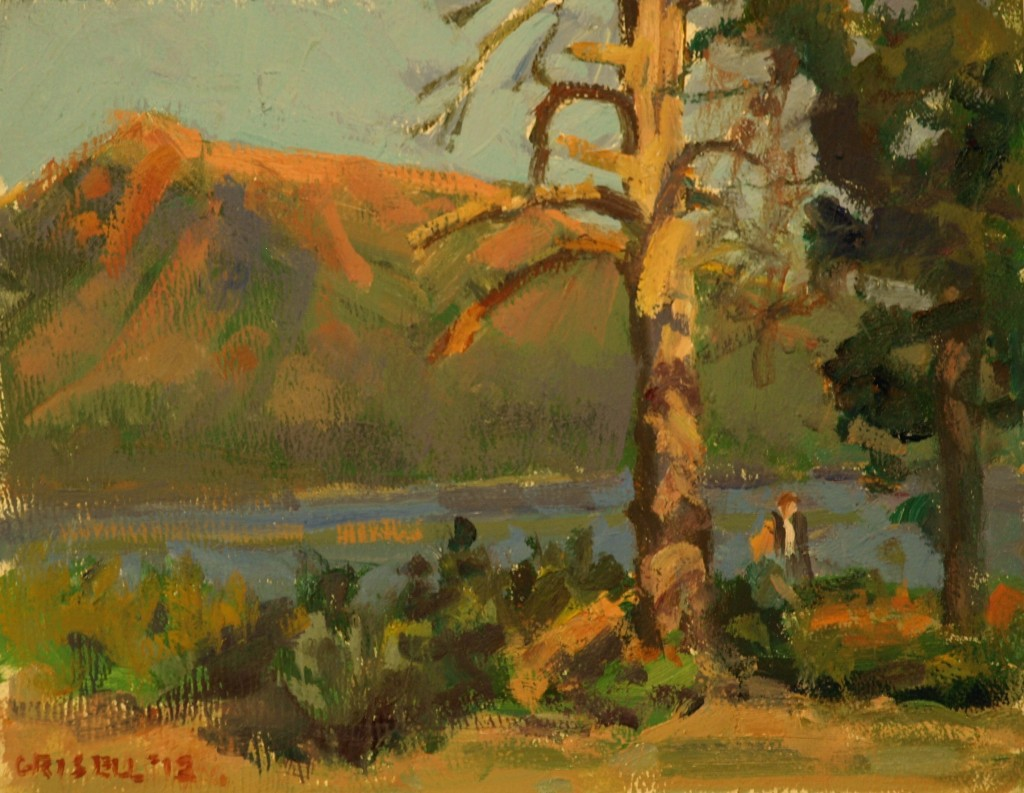 Dead Tree, Oil on Canvas on Panel, 8 x 10 Inches, by Susan Grisell, $150