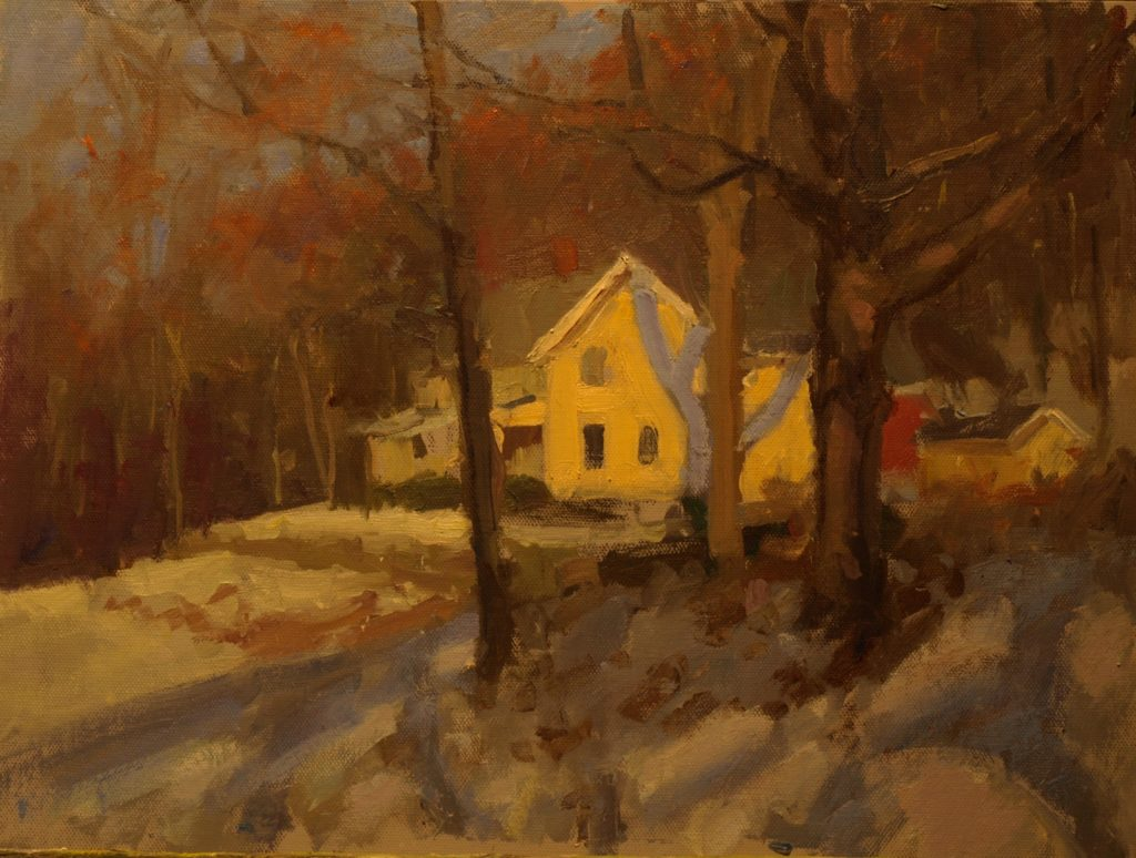 Dobson's House, Oil on Canvas on Panel, 12 x 16 Inches, by Susan Grisell, $325