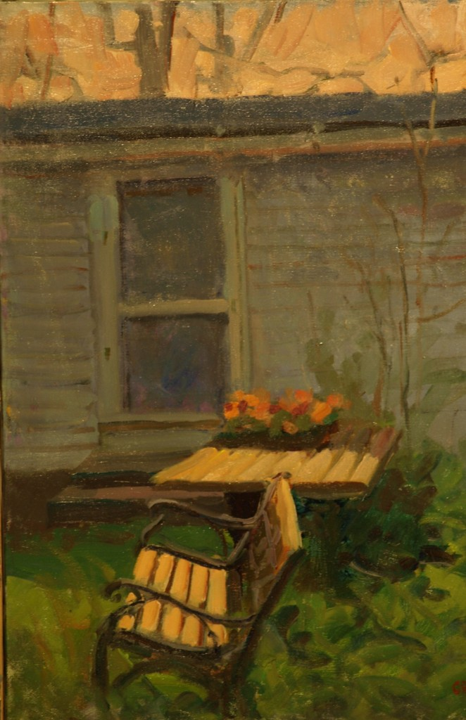 Dooryard -- May, Oil on Canvas, 20 x 16 Inches, by Susan Grisell, $450
