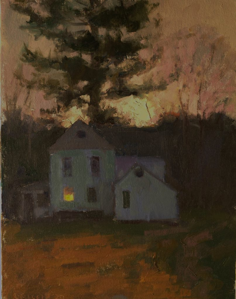 Early Twilight, Oil on Canvas on Panel, 16 x 12 Inches, by Susan Grisell, $325