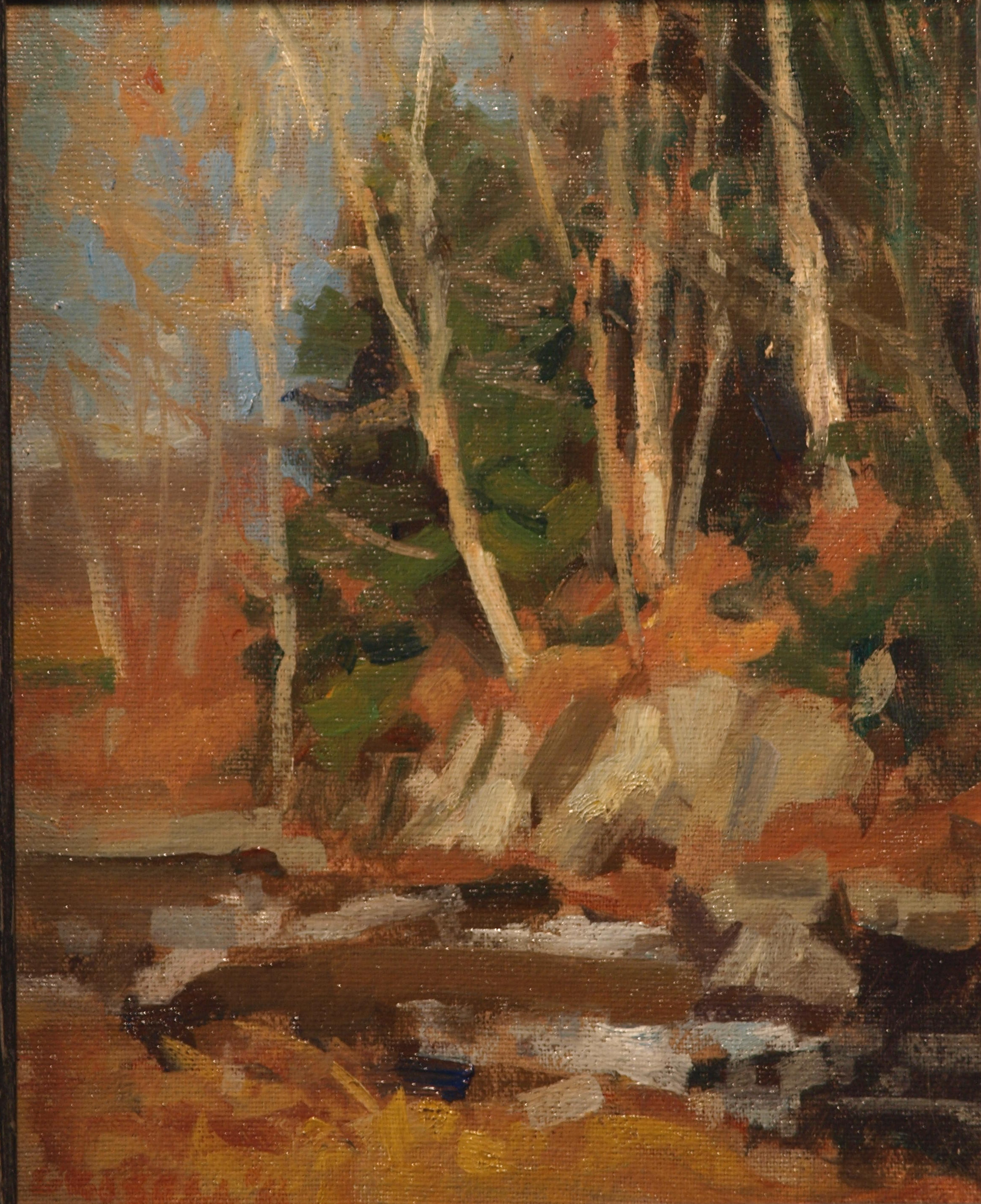 Earth Colors, Oil on Canvas on Panel, 10 x 8 Inches, by Susan Grisell, $150