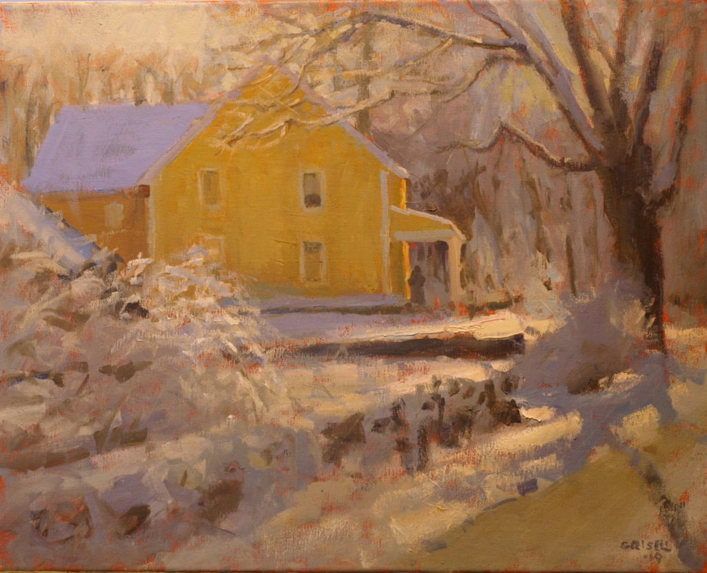 Glistening Snow, Oil on Canvas, 16 x 20 Inches, by Susan Grisell, $550
