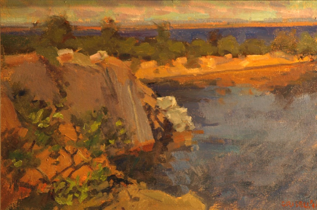 Halibut Point - Rockport, Oil on Canvas on Panel, 12 x 18 Inches, by Susan Grisell, $275