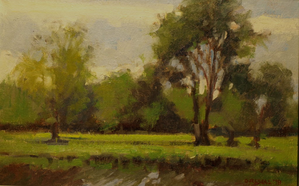 Harrybrooke in June, Oil on Canvas on Panel, 12 x 18 Inches, by Susan Grisell, $300