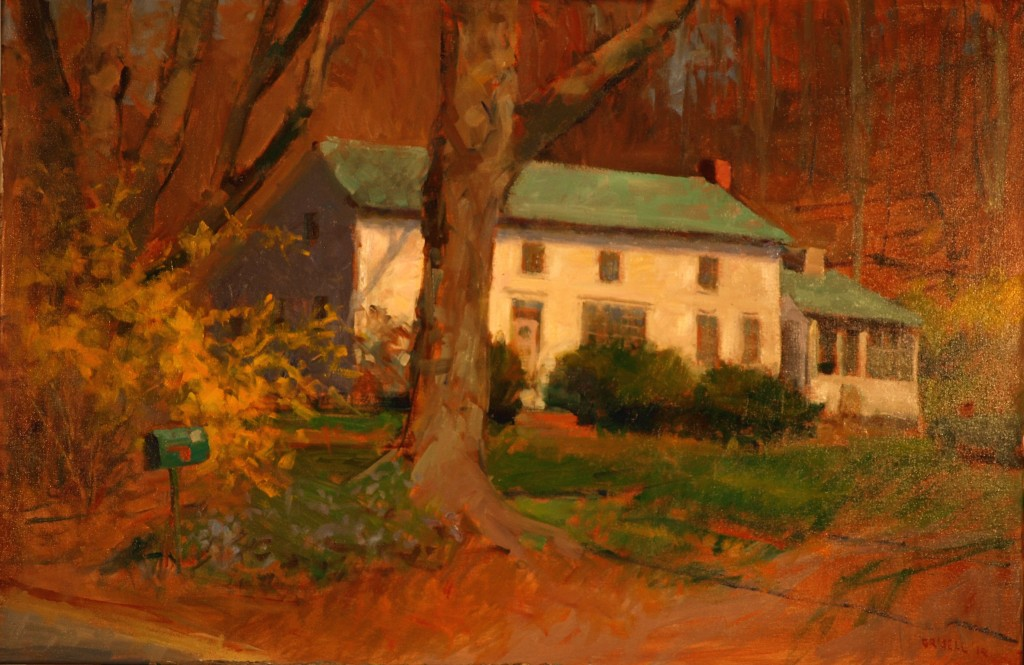 Helene's House, Oil on Canvas, 24 x 36 Inches, by Susan Grisell, $1200