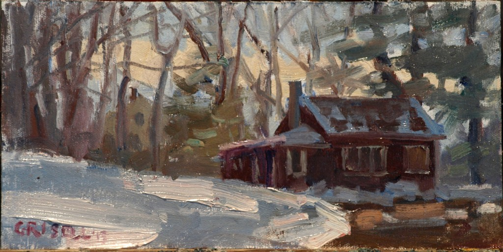 Home, Oil on Canvas on Panel, 6 x 12 Inches, by Susan Grisell, $150