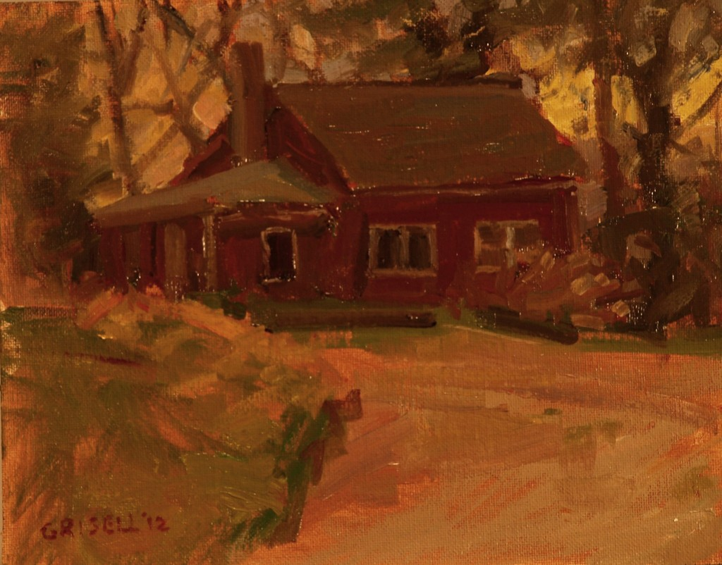 January Afternoon, Oil on Canvas on Panel, 8 x 10 Inches, by Susan Grisell, $150