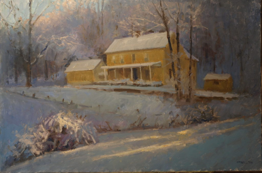 March in Snow, Oil on Canvas, 24 x 36 Inches, by Susan Grisell, $1500