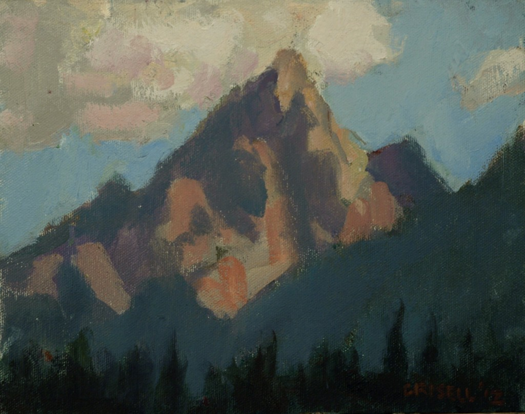 Mountain Peak, Oil on Canvas on Panel, 8 x 10 Inches, by Susan Grisell, $150