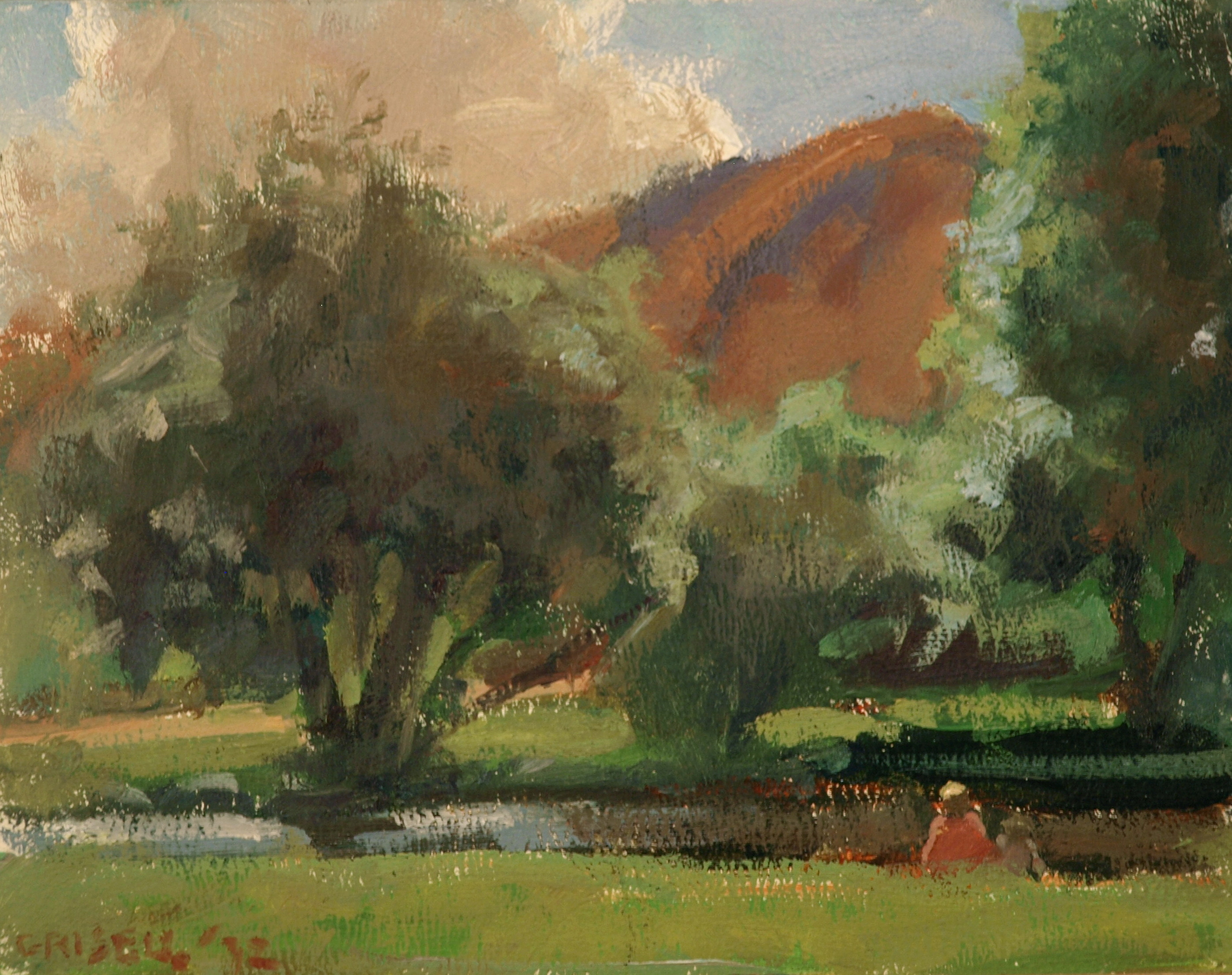 Park -- Jackson, Oil on Canvas on Panel, 8 x 10 Inches, by Susan Grisell, $150