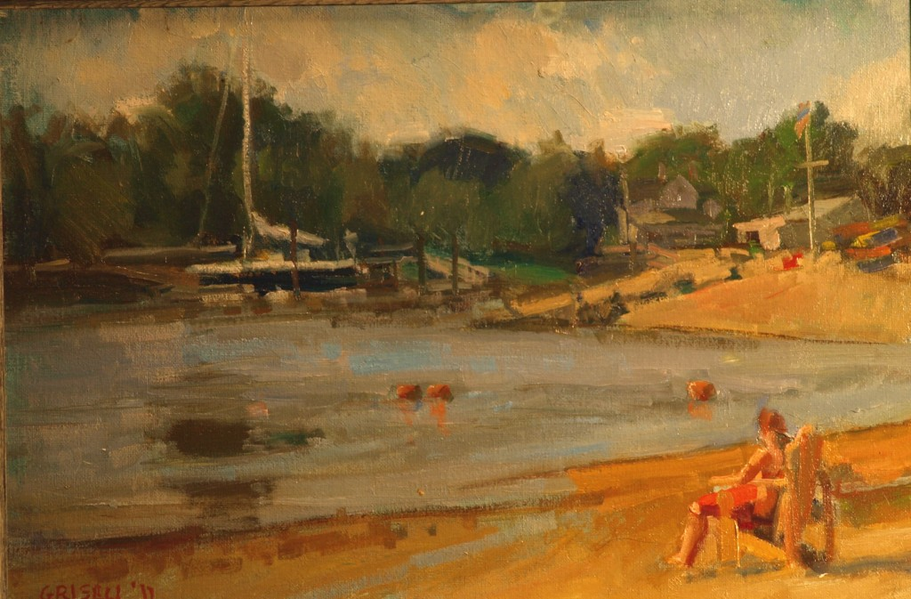 Pear Tree Beach, Oil on Canvas on Panel, 12 x 18 Inches, by Susan Grisell, $275