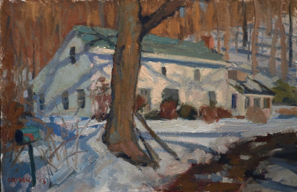 Piliero's House, Oil on Canvas on Panel, 12 x 18 Inches, by Susan Grisell, $275