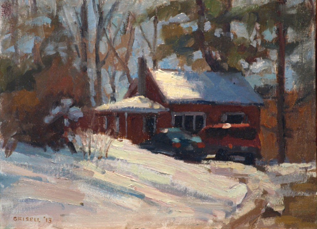 Plowed Out, Oil on Canvas on Panel, 12 x 16 Inches, by Susan Grisell, $275