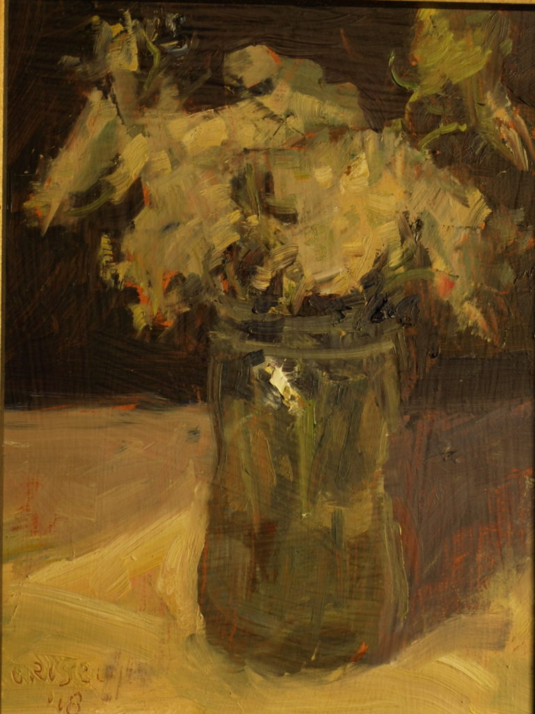 Queen Anne's Lace, Oil on Panel, 10 x 8 Inches, by Susan Grisell, $200