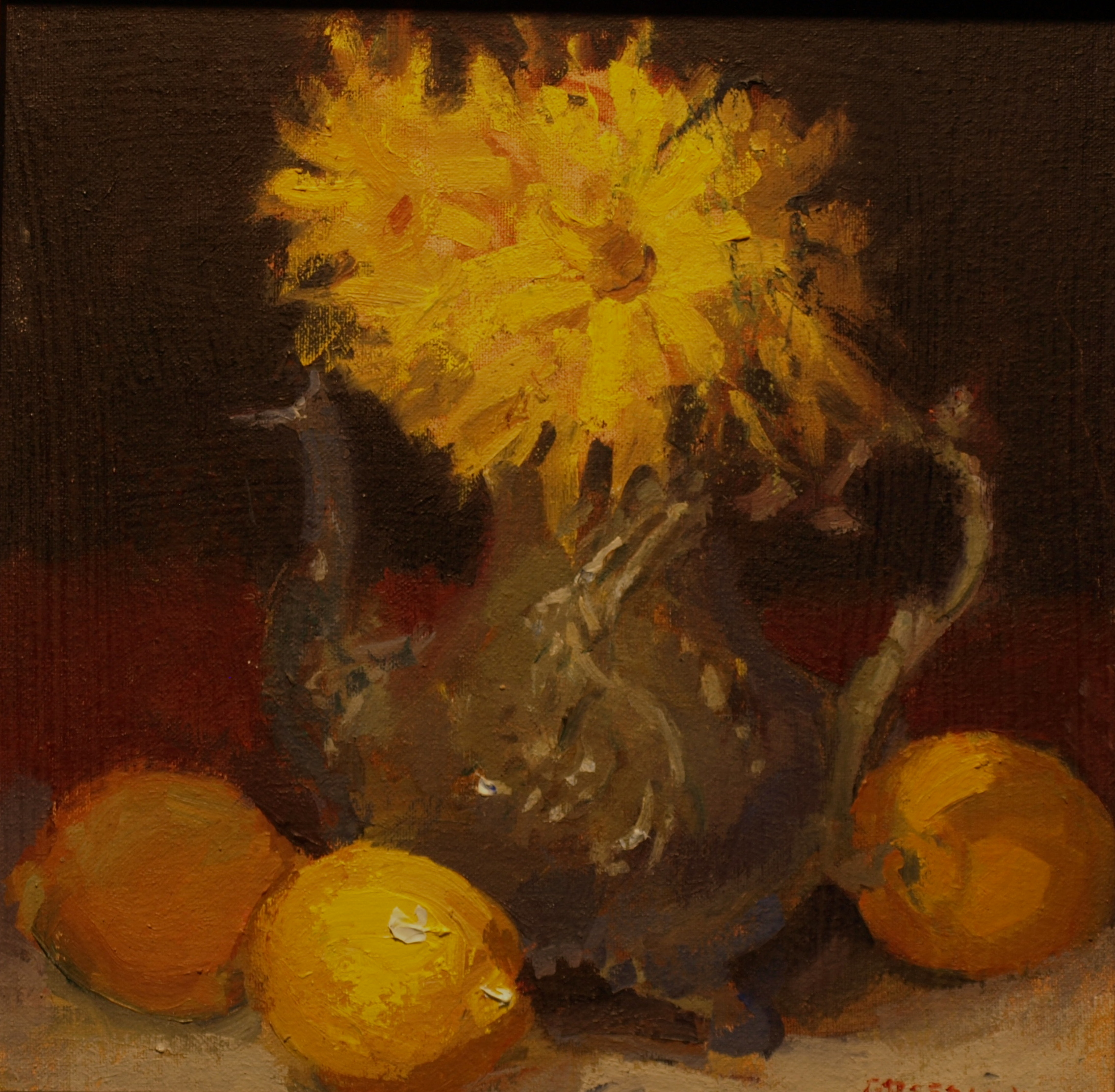 Silver Teapot, Oil on Canvas on Panel, 12 x 12 Inches, by Susan Grisell, $275