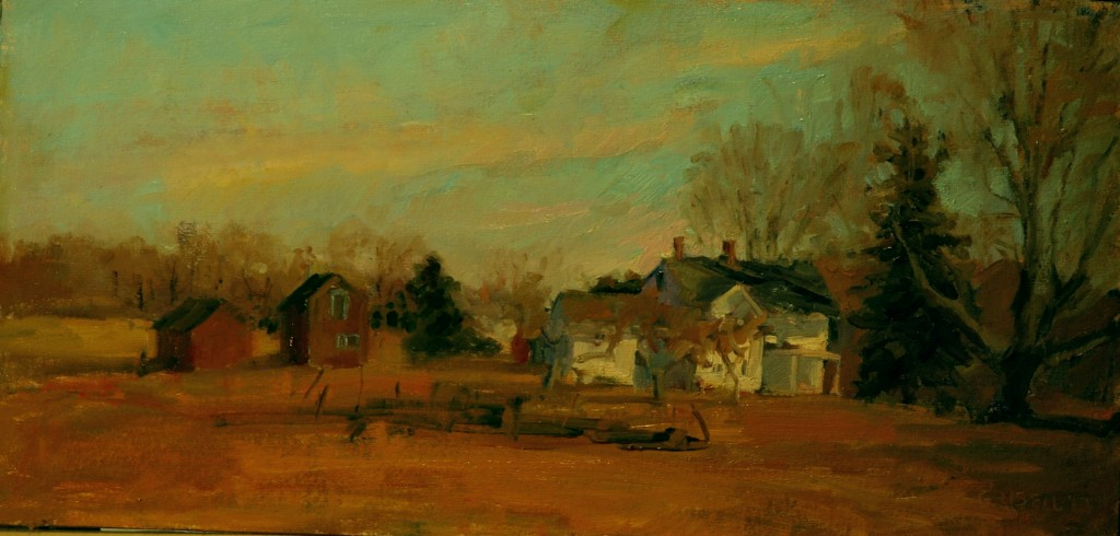 Spring on Skiff Mountain, Oil on Canvas on Panel, 12 x 24 Inches, by Susan Grisell, $450