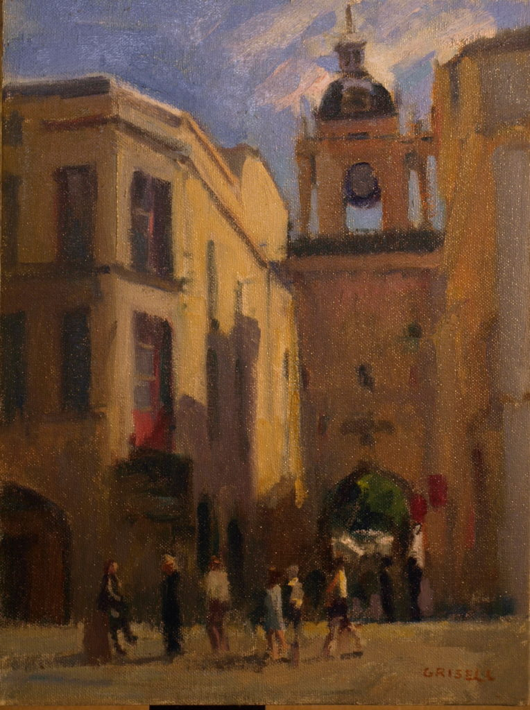 Street in La Rochelle, Oil on Panel, 16 x 12 Inches, by Susan Grisell, $300
