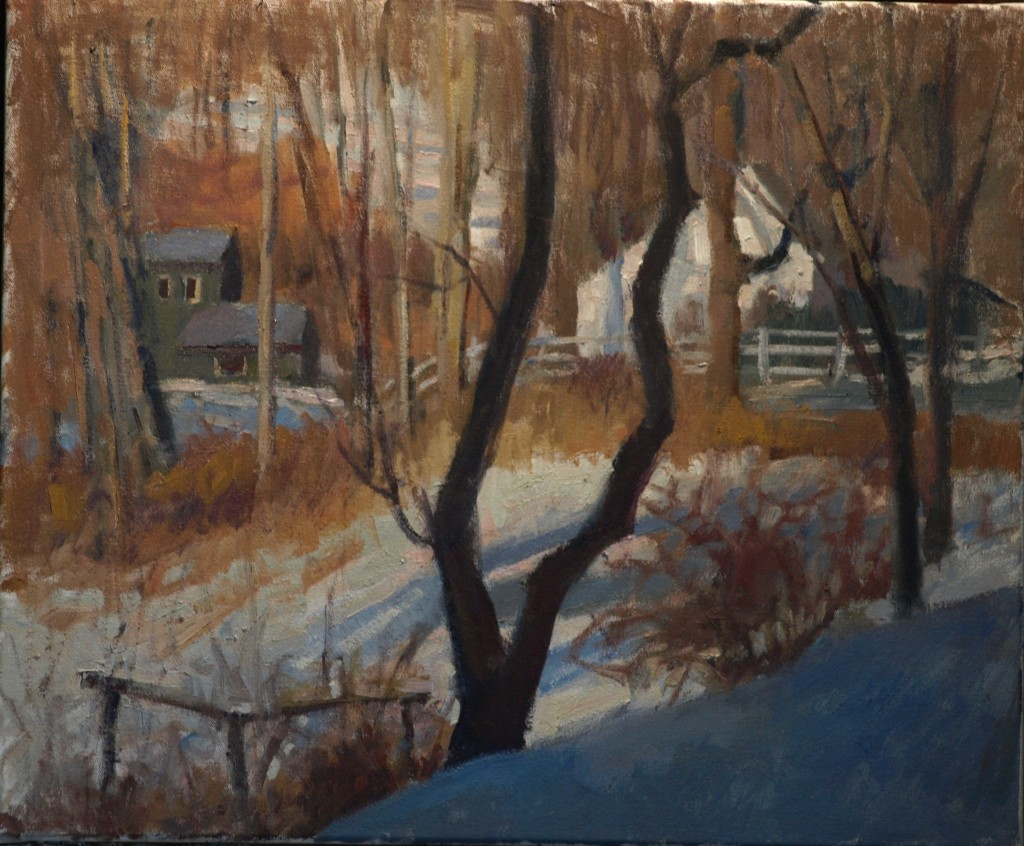 Studio View, Oil on Canvas, 20 x 24 Inches, by Susan Grisell, $650