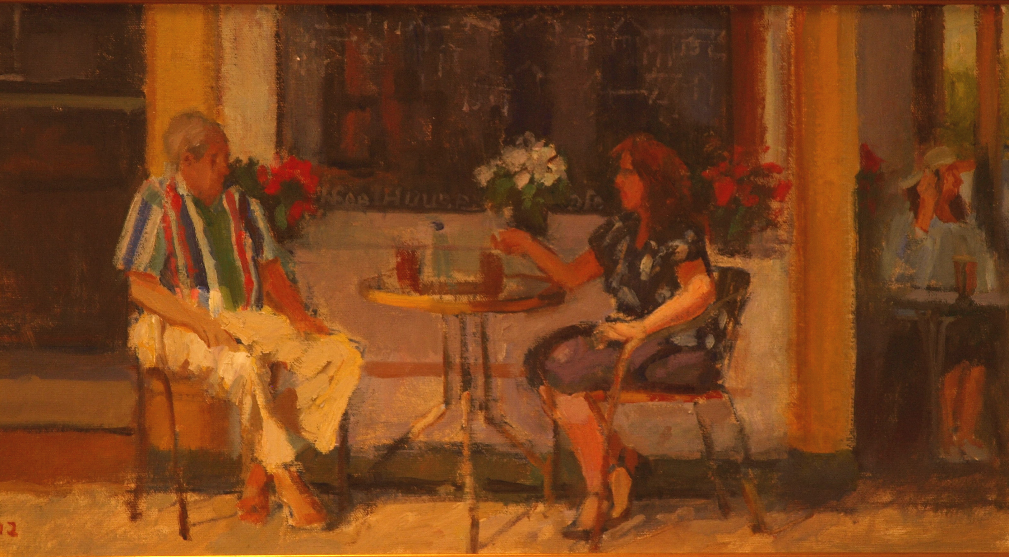 Summer Vacation, Oil on Canvas on Panel, 12 x 22 Inches, by Susan Grisell, $450