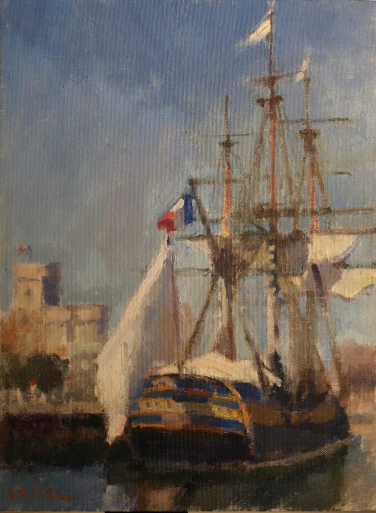 The Hermione, Oil on Panel, 16 x 12 Inches, by Susan Grisell, $300