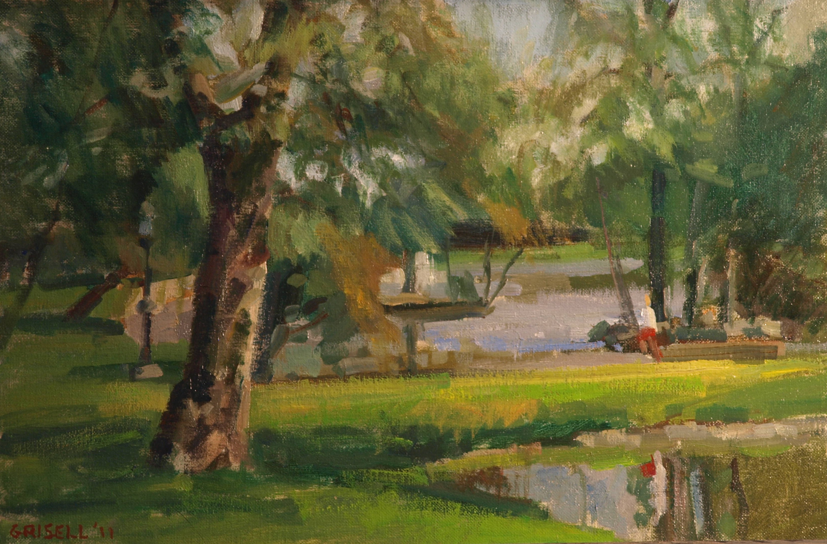Tilley Park, Oil on Canvas on Panel, 12 x 18 Inches, by Susan Grisell, $275