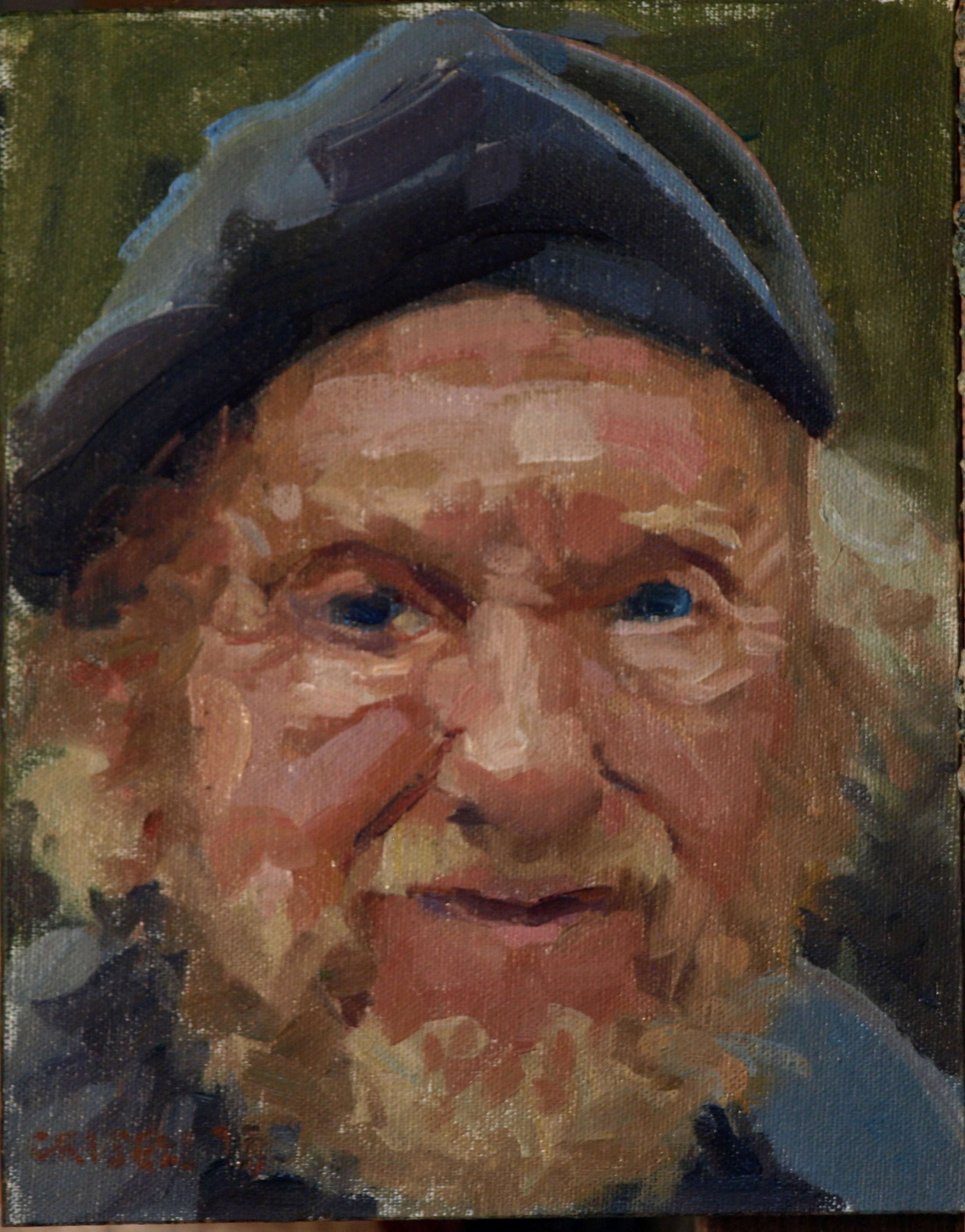 Tom, Oil on Canvas on Panel, 10 x 8 Inches, by Susan Grisell, $150