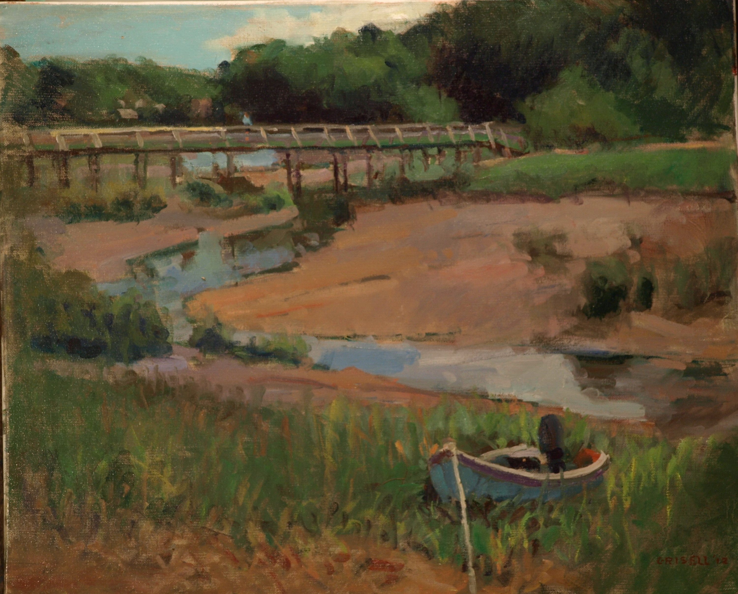 Uncle Tim's Bridge, Oil on Canvas, 20 x 24 Inches, by Susan Grisell, $650