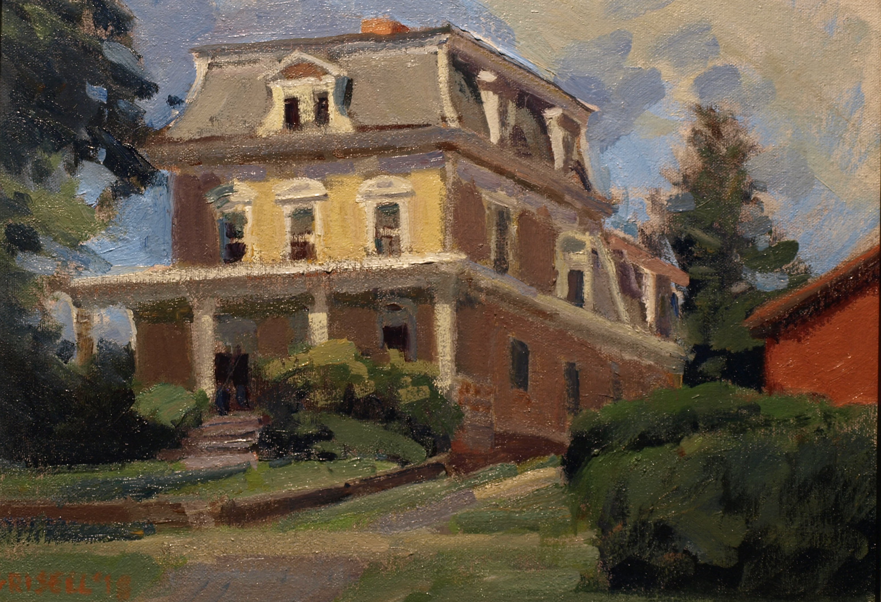 Victorian House, Oil on Canvas on Panel, 12 x 16 Inches, by Susan Grisell, $300