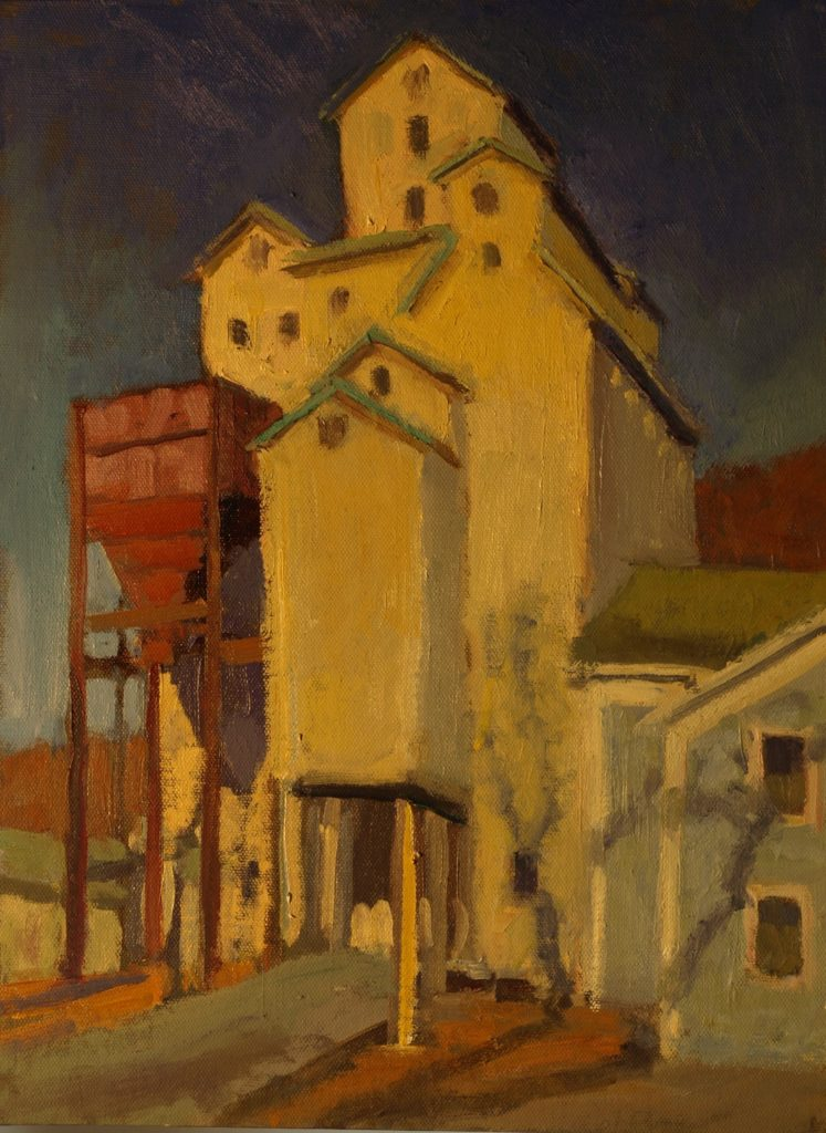 Wassaic Grain Mill, Oil on Canvas on Panel, 16 x 20 Inches, by Susan Grisell, $325