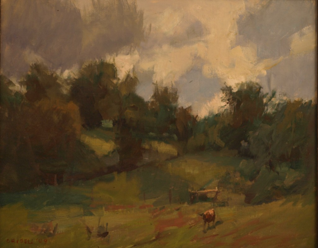 September Pasture, Oil on Board, 16 x 20 Inches, by Susan Grisell, $450