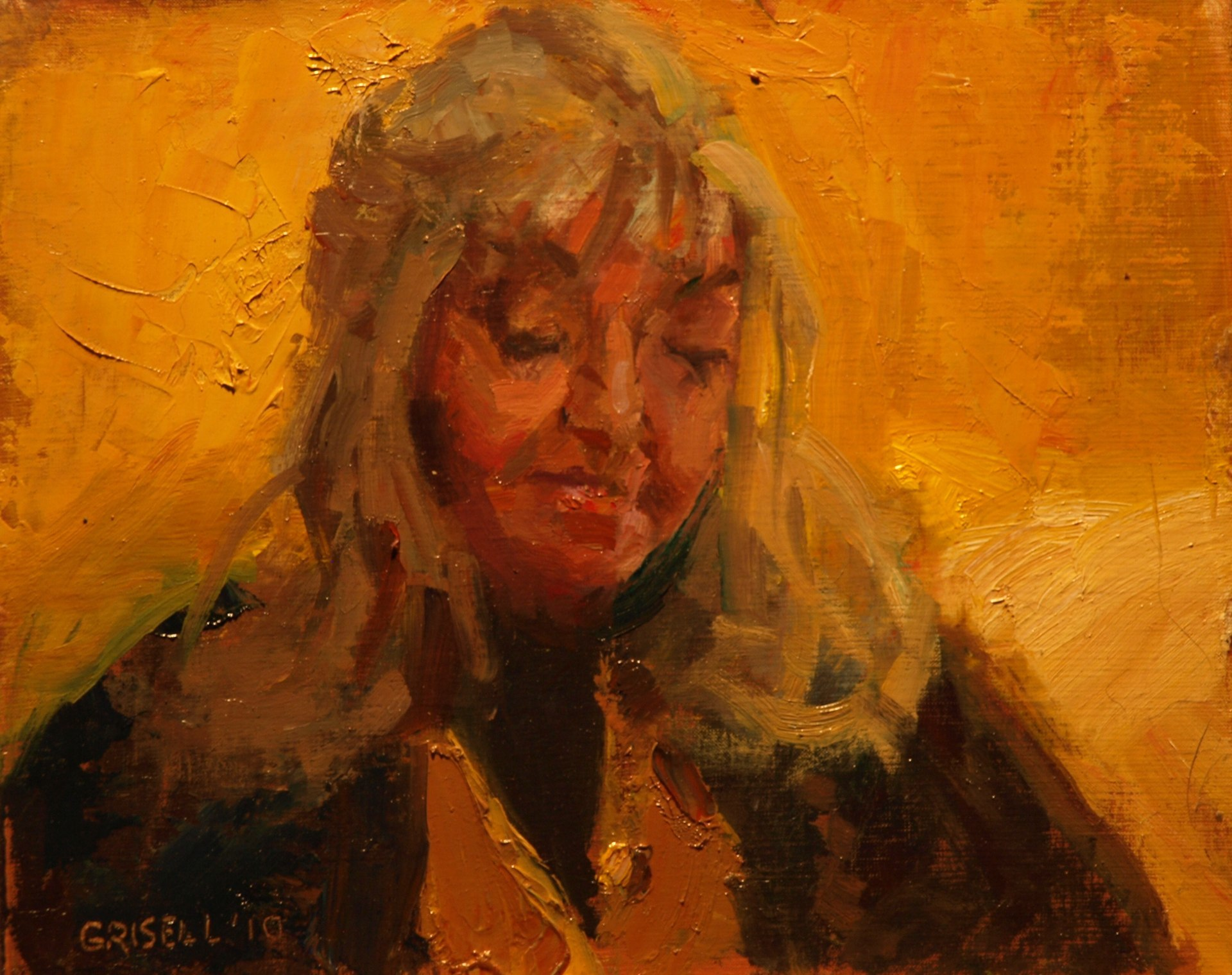 Sheila, Oil on Panel, 8 x 10 Inches, by Susan Grisell, $150