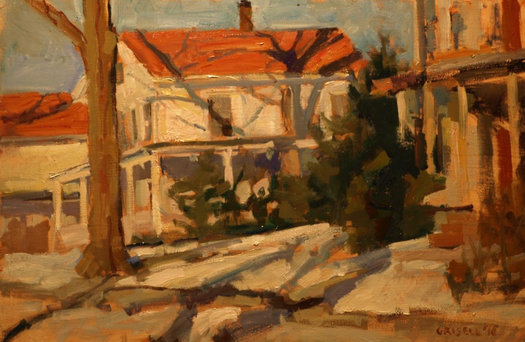 South Main Street, Oil on Panel, 12 x 18 Inches, by Susan Grisell, $325